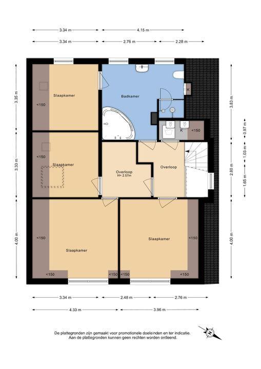 Voorstraat 9 B, Delft plattegrond-2