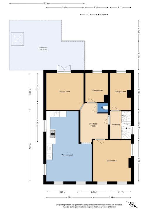 Voorstraat 9 B, Delft plattegrond-1
