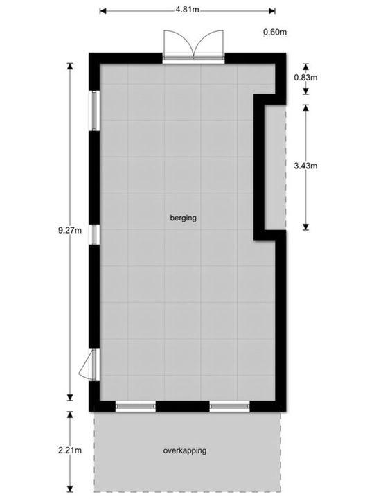 Zuidersingel 115 A, Berkel en Rodenrijs plattegrond-