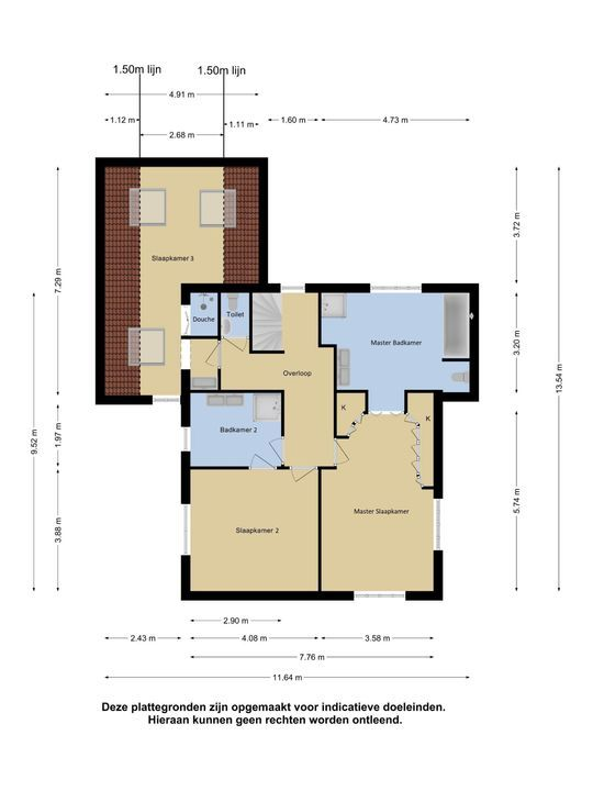 Nemelaer 1, Oosterhout nb plattegrond-