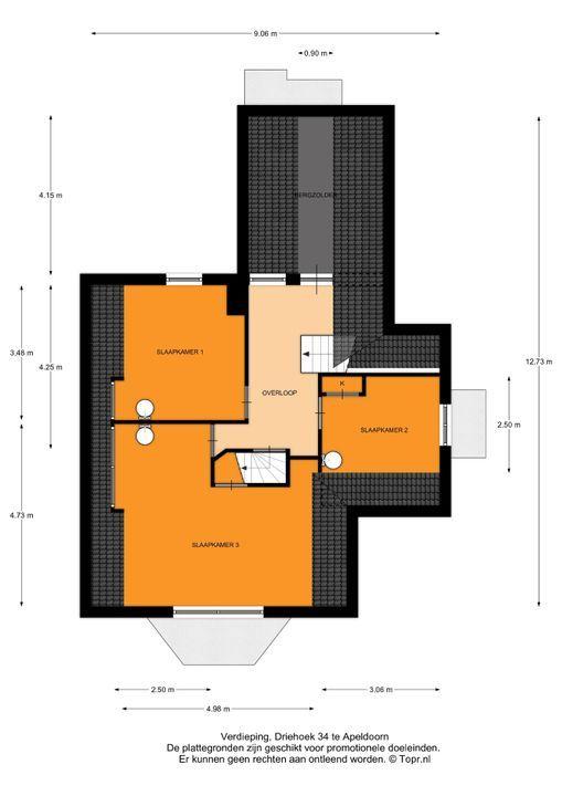 Driehoek 34, Apeldoorn plattegrond-