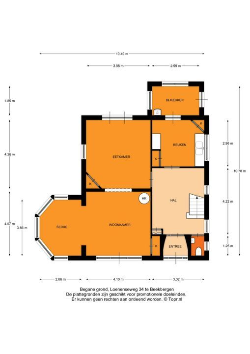 Loenenseweg 34, Beekbergen plattegrond-