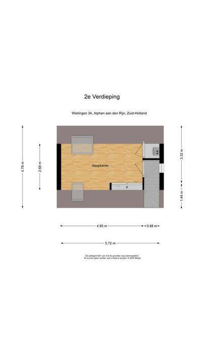 Wielingen 34, Alphen aan den Rijn plattegrond-