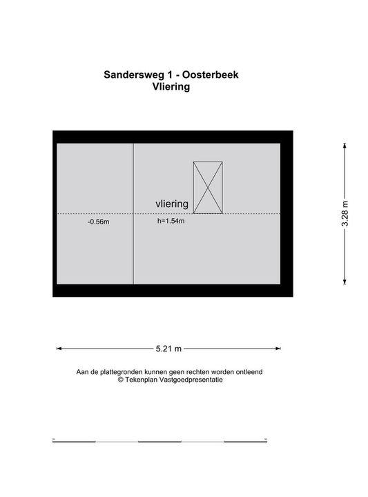Sandersweg 1, Oosterbeek plattegrond-