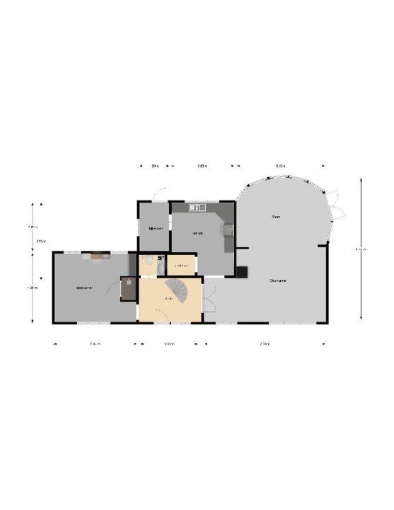 Zandlaan 1, Beetsterzwaag plattegrond-