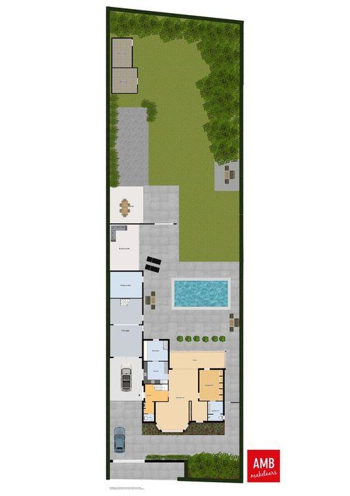 Het Hof 1 B, Gemonde plattegrond-