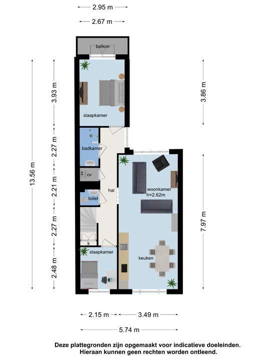 Willemstraat 55, Voorburg plattegrond-16